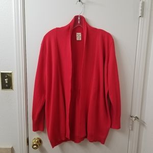 Red Cardigan 1X NWOT
